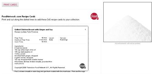 Recipe card print version